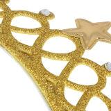 Tiaras elegantes del plástico del corte del diamante