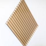 O material de construção da telhadura 10 milímetros cancela a folha do policarbonato da parede do gêmeo da proteção da parede