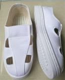 白いPVC ESDクリーンルームの働くズック靴(EGS-PVC-601)