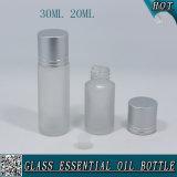 bottiglia di vetro glassata di 30ml 20ml per olio essenziale con la protezione d'argento opaca