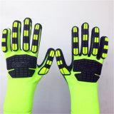 Перчатки безопасности нитрила Sandy Coated высокие эластичные поли с шить TPR