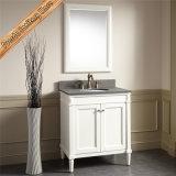 Gabinete de banheiro do dissipador da vaidade ereta livre do banheiro da madeira contínua único