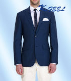 Chaqueta azul del juego de asunto de los hombres del OEM de la manera del color