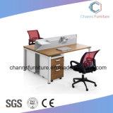 Sitio de trabajo modular del color mezclado con el escritorio de 2 ordenadores