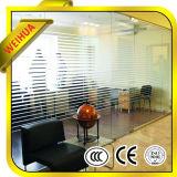 Venta caliente vidrio laminado claro y coloreado de 6.38mm-39m m