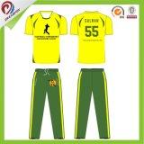 Circuits lumineux du Jersey de cricket de vert jaune pour la jeunesse/club/équipe/adultes