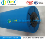 ролики транспортера зеваки транспортера HDPE системы транспортера диаметра 159mm голубые