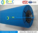 ролики транспортера зеваки транспортера HDPE системы транспортера диаметра 90mm голубые