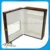 호화스러운 선물 안쪽 안대기를 가진 포장 포도주 상자