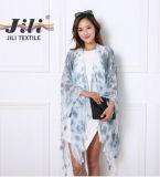 Vestito multicolore dallo scialle del voile della signora Scarf Tie Dye Warm della molla di alta qualità 2016