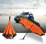 Parapluie à double but pour voiture d'affaires à double but avec personnalité inverse et poignée longue et droite pour l'automobile créative