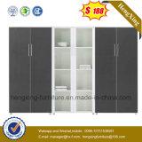 Шкаф архива Bookcase офиса стеклянных дверей высокого качества деревянный (HX-4FL003)