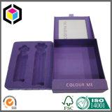 Boîte-cadeau rigide de papier de carton de couvercle articulée par luxe