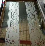 Plaque décorative de panneau de feuille gravure d'acier inoxydable de modèle d'art pour le Module de mur de porte d'ascenseur