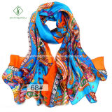 Neuer Entwurf Silk Prined Schal-Dame Fashion Scarf Factory