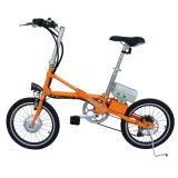 18 Zoll faltendes E-Fahrrad 7 Geschwindigkeits-Kohlenstoffstahl-Material