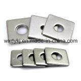 Fournisseur carré plat encoché de matériel de rondelle du matériel JIS B 1256 d'acier inoxydable de la Chine