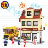 Schulbus-Plastik blockt Spielzeug für Kinder