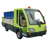 Il barilotto elettrico dell'immondizia che raccoglie il Ce del camion ha approvato