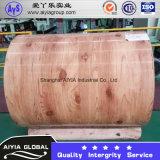 Bobinas de aço revestidas de cor / bobinas PPGI de padrão de madeira