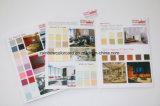 Folleto de la tarjeta de la cortina del color de la pintura de la pared para el material de construcción