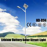 illuminazione stradale solare della batteria di litio di 6m palo chiaro 12V 30~80ah con il certificato IP65 del Ce