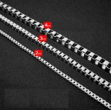 Color de plata de acero Titanium del encadenamiento del collar de la joyería de la manera