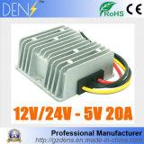 C.C. ao regulador 12V 24V do módulo do fanfarrão do conversor de C.C. à fonte de alimentação do diodo emissor de luz do carro de 5V 20A 100W