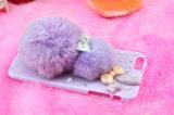 Invierno para iPhone6 más la cubierta caliente del teléfono móvil de Rex del pelo de imitación del conejo para el teléfono móvil de la felpa DIY de Apple 5s