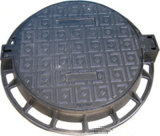 Couverture de trou d'homme malléable de fer de bâti En124 avec le service d'OEM