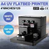 전화 덮개 케이스를 위한 잉크 제트 A4 UV 인쇄 기계를 인쇄하는 가장 작은 UV 평상형 트레일러