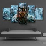 HD imprimió la lona muerta Mc-026 del cuadro del cartel de la impresión de la decoración del taller de impresión de la lona de pintura de los zombis que recorría