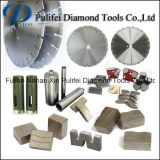 A ferramenta de potência parte o segmento do diamante do cortador do segmento para a laje de pedra