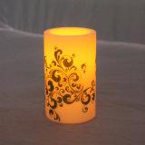 装飾のためのFlameless電池式の安全使用のプラスチックLED点滅の蝋燭