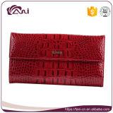 De Vrouwen van de manier Dame Genuine Leather Wallet met de Zak van het Muntstuk