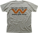 T-shirt de polyester estampé 2017 par coutumes (A640)