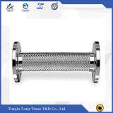 Flexibler Stahl-umsponnener weicher Metalschlauch mit Flansch-Ende