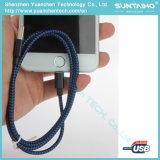 para el cable de carga rápido del relámpago del USB del iPhone