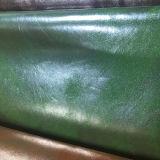 Couro de venda quente de Upholstery do PVC do plutônio da alta qualidade 2017 para as sapatas (E6084)