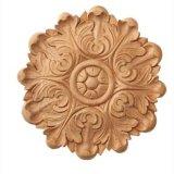 Sculpture en bois en rosette et en découpage d'étoile