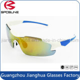 Os óculos de sol polares polarizados do brilho UV400 polarizaram vidros permutáveis do basebol da lente