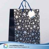 Sac de transporteur de empaquetage estampé de papier pour les vêtements de cadeau d'achats (XC-bgg-028)