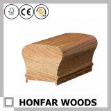 Поручень лестницы твердой древесины украшения материальный для гостиницы