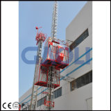 Levage de chantier de construction avec la double cage/cage simple