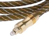 câble sonore de fibre optique Od6.0mm Od60-E de 1.5m Digitals