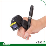 Feito na China Barato 2D Mini Bluetooth Barcode Finger Ring Scanner