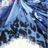 Шаль сатинировки повелительницы Шарфа Орхидеи Леопарда Printed способа толщиная