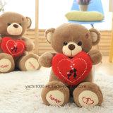 Urso da peluche do Valentim do presente da promoção com coração