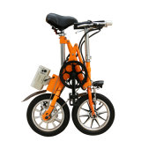 Bicicleta elétrica do aço de carbono com indicador Yztd-14 do LCD da bateria de lítio
