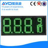 Hidly el panel del precio de la gasolina de Europa LED del verde de 12 pulgadas